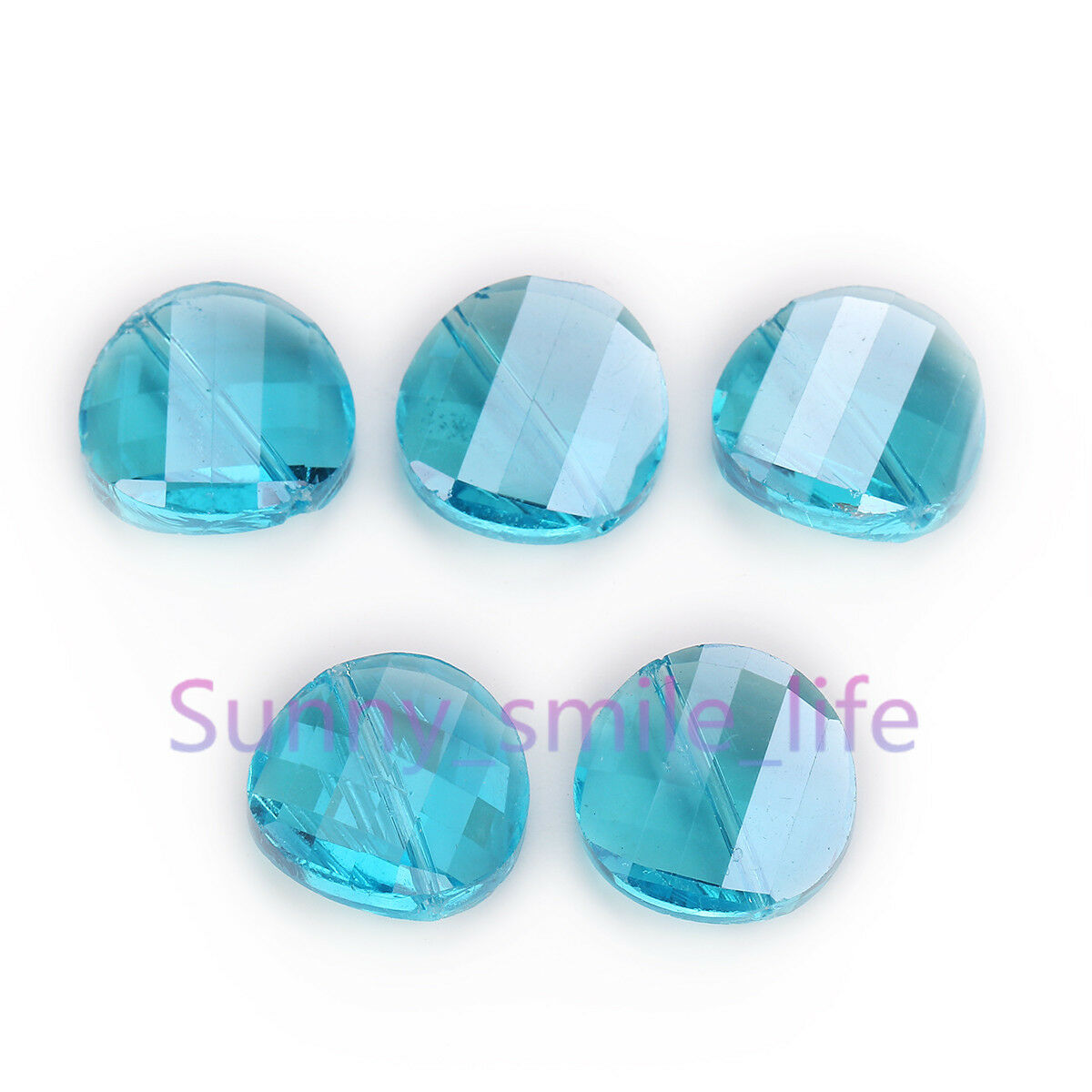 10pcs Faceted Crystal Glass Loose Twist pièce Perles Lot 12 mm 14 mm 18 mm