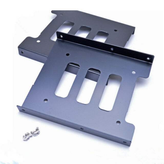 2.5 inch SSD HDD To 3.5 inch Metal Mounting Adapter Bracket Dock for PC Black