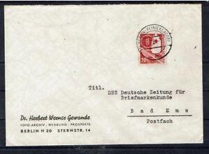 Bund BRD MiNr 169 comme EF RARE dévaluation Berlin-Reinickendorf 24.9.1953-afficher le titre d`origine 58oqns1h-07140526-324142558