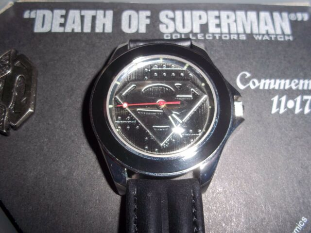 Superman fossil watch 1993 death of superman w collectors pin 4722 superman fossil watch 1993 death of superman w collectors pin 472210000 freerunsca Choice Image