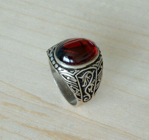 Sterling Silver ring 925 Hand made finish solitaire mens ring