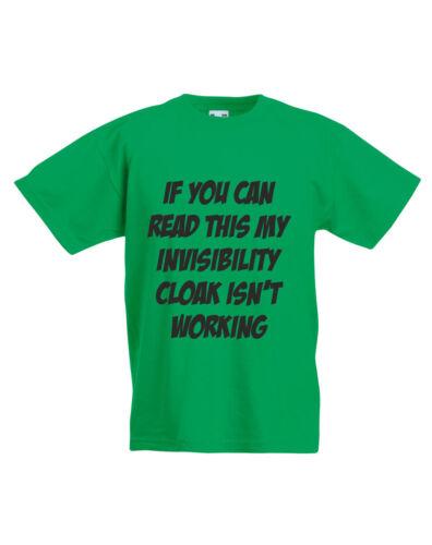 Invisibilità Mantello non funziona Harry Potter ispirato KIDS T-SHIRT STAMPATA