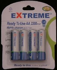 AA 2200 mAh EXTREME RECHARGEABLE Batteries (new Ready to Use NIMH type) LR6 RX6
