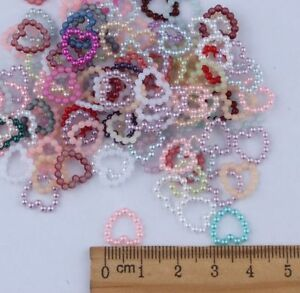 NEW 100pcs 11MM Resin heart Scrapbooking For making phone craft DIY mix