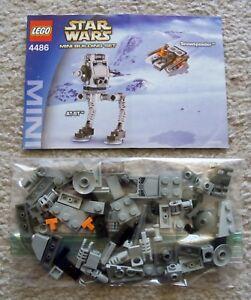 LEGO-Star-Wars-Rare-4486-AT-ST-amp-Snowspeeder-w-Instructions