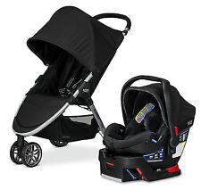 Britax B-Agile Stroller & B-Safe 35 Elite Travel System Domino New! Free Tray!!