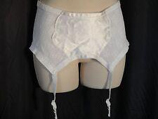 vintage Garter Belt pinup Burlesque  XXL 2XL corset Shaper white Firm sheer Plus