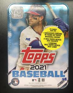 2021 Topps Series 1 Baseball Tin, Factory Sealed, Bryce Harper Phillies MLB