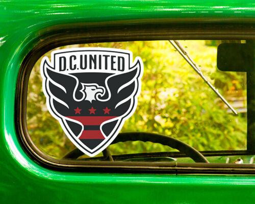 2 DC UNITED SOCCER STICKER Decal Bogo For Car Bumper Free Shipping window