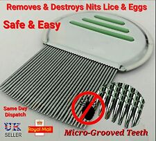 QUALITY Stainless steel head lice nit metal tooth comb get 2 the NITTY GRITTY