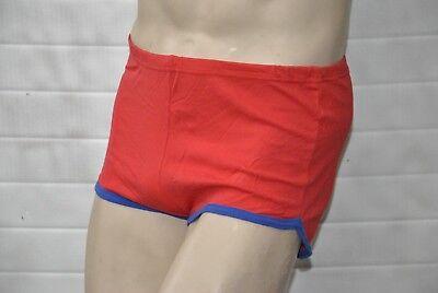 Veb Oberlungwitz Badehose Rot Ddr Swimming Trunks 80s True Vintage 80er Gdr GroßE Vielfalt