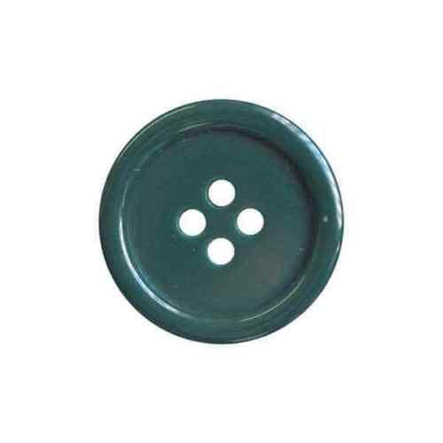 25 mm//40 L 4 Trous Rond//manteau vêtements bouton-Vert Bouteille