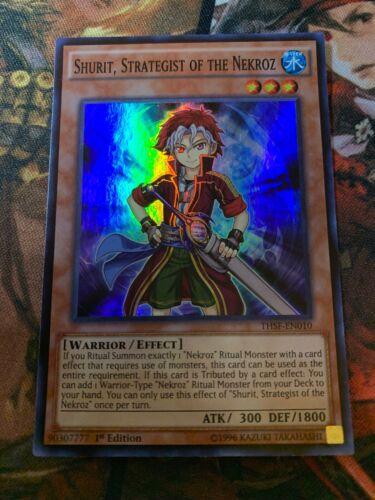 Yugioh 3x Shurit Strategist Of The Nekroz Super Rare 1st Ed THSF-EN010 NM