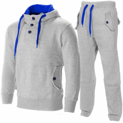 MENS BOYS SPORTS LUXUARY FLEECE PULLOVER TRACKSUIT JOGGING SUIT BOTTOM HOODIE