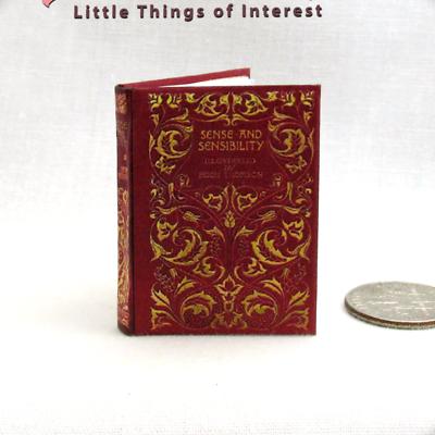 1:24 SCALE MINIATURE BOOK SENSE AND SENSIBILITY ILLUSTRATED JANE AUSTEN DOLLHOUS