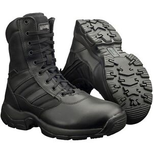 "MAGNUM Panther no-zip black 8/"" combat cadet service non-safety boot"