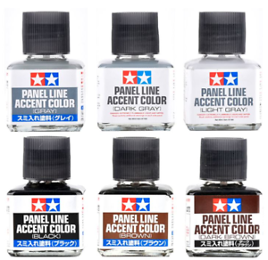 TAMIYA-Panel-Line-Accent-Color-87131-87199-40ml-For-Model-Kit-Brand-New