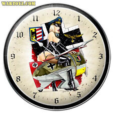 """Frau Flyer"" German Military Pin-Up Girl Clock - Past Time Signs SPI009"