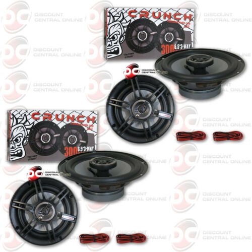 "BRAND NEW 4 x CRUNCH 6.5-INCH 6-1//2/"" 3-WAY CAR AUDIO COAXIAL SPEAKERS 300 WATTS"