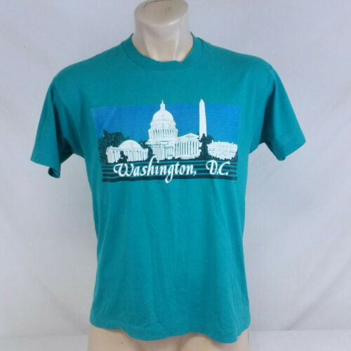 Vintage 80s Washington DC T Shirt Single Stitch To