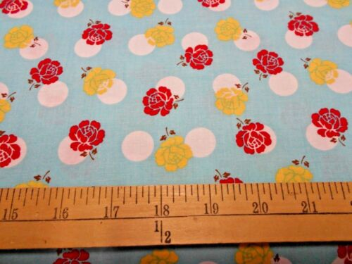 1 yard Riley Blake Sew Dainty  Aqua Fabric