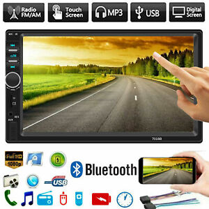 Details about 🔥7018B 7inch 2 DIN Car MP5 MP3 Player Bluetooth Touch FM  Stereo Radio+Camera