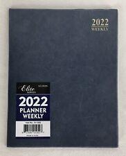 2022 Weekly Day Planner Calendar Organizer Agenda Appointment Book Slate 8x10