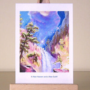 Bible-Revelation-prophecy-New-Heaven-and-a-New-Earth-Christian-ACEO-art-drawing