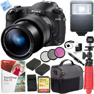 Details about Sony RX10 IV Cyber-Shot High Zoom 20 1MP Camera 24-600mm  F 2 4-F4 lens 64GB Kit
