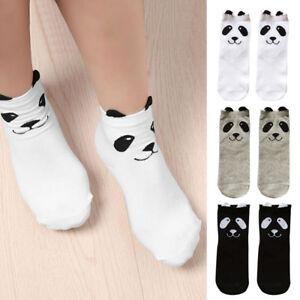 Détails Sur Paire Femme Fille Kawaii 3d Panda Chaussettes Animal Dessin Doux Moelleux Cadeau