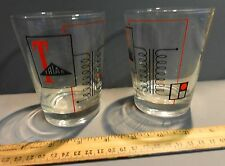 PAIR VINTAGE TRIAD ELECTRONICS DRINKING GLASSES COMPANY LOGO