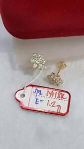 18K-Saudi-Gold-1-2g-Flower-Stud-Earrings