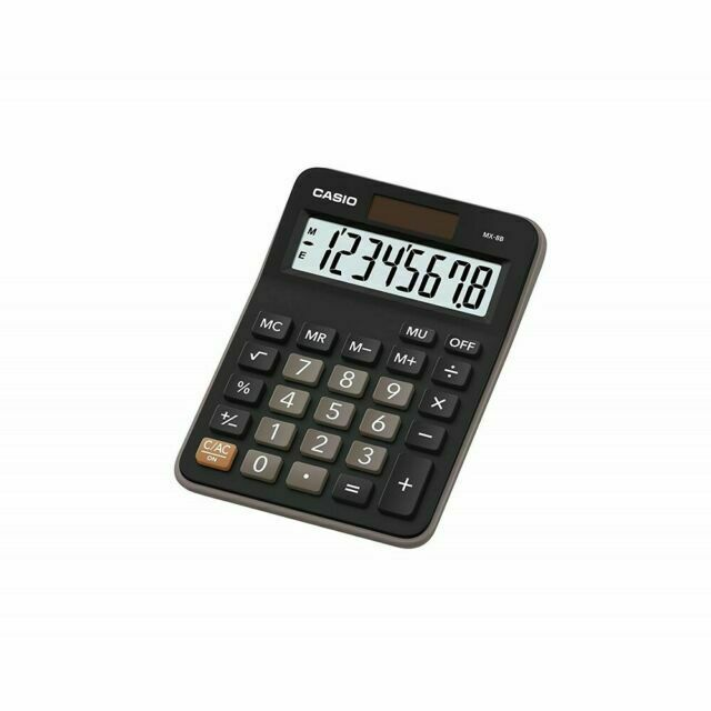 NEW Casio MX-8B Electronic Calculator EXTRA LARGE DISPLAY 8-Digit MARK-UP /% MX-8