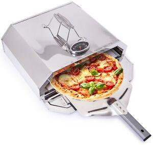 Outdoor-PIZZA-FORNO-PORTATILE-BBQ-PIETRA-di-base-controllo-della-temperatura-in-acciaio-Grill-a-gas