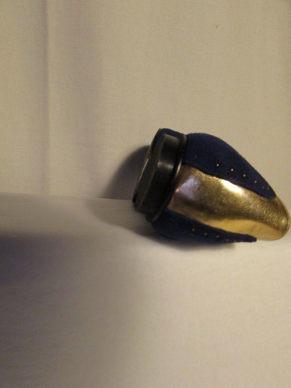 Ballerines SHELLYS LONDON daim bleu et cuir doré 39
