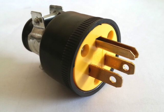 Heavy Duty Male Replacement Electrical Plug 3 G 15a 220v Free Ship