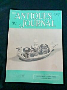 Antiques-Journal-1953-Majolica-Faience-Ware-Dresden-China-Dauphin-Buttons-Fans