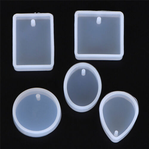 5pcs Silicone Mould Set Craft Mold For Resin Necklace jewelry Pendant Making