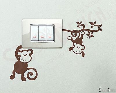 Adesivi Murali Simpatiche Scimmiette Wall Stickers Adesivi Cameretta Sticker