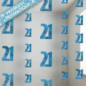 Image Is Loading 21st BIRTHDAY PARTY DECORATIONS BLUE HANGING STRINGS