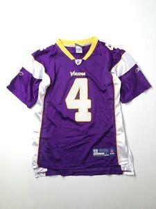 811d8645ff1c Reebok Youth Boy Minnesota Vikings Brett Favre  4 Football Jersey ...