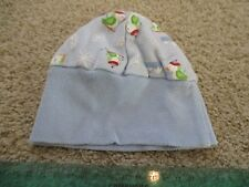 Infant Baby Winter Themed Beanie Hat Penguins Snowflakes Mountains Blue Weather
