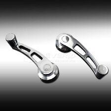 Universal Aluminium Billet Car Window Winder Crank Handle With Adaptors Silver
