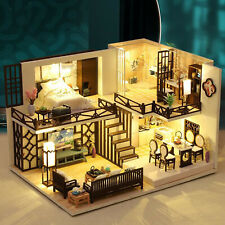 Love in Budapest DollLabs Miniature Dollhouse DIY Mini House Kit with Led Lights and Music Box for Gift Set
