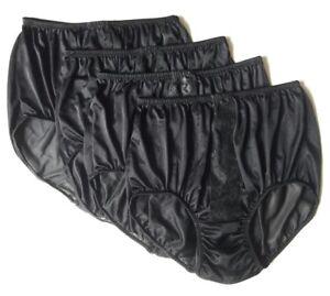 edf98a2823dd 4x Lace Silk Nylon Knicker Size L Underwear Vintage Style Panties ...