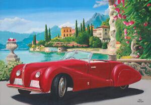 Canvas-print-1938-Alfa-Romeo-6C-2500-SS-Pininfarina-Spider-by-Toon-Nagtegaal-OE
