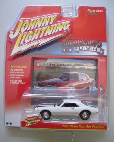 Chevy Camaro z28 blanc Johnny Lightning 1:64 Neuf dans sa boîte NEUF