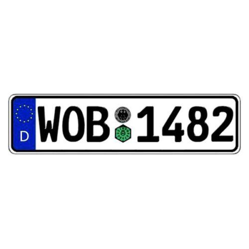Germany Wolfsburg Random Authentic EEC Europlate License Plate