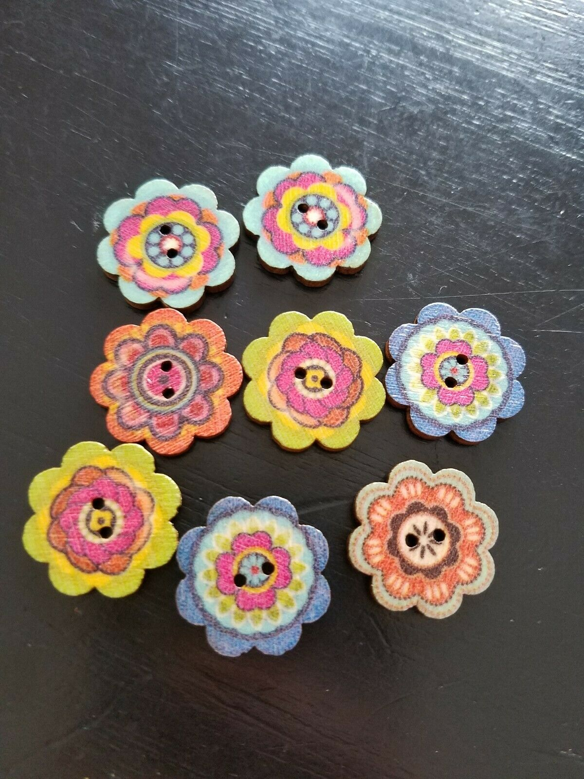 4 pcs Yorkshire Terrier Dog Novelty Buttons Sewing Crafting Card Making Quilting