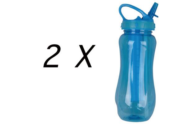 2 X Ghiaccio Core Flip Aggiorna Sport Fitness Palestra Acqua Potabile Bottiglia Di Aggiornamento